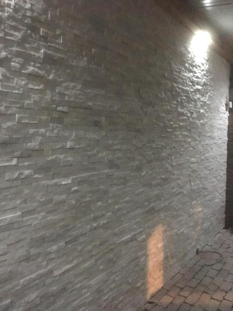 Overkapping met LED verlichting